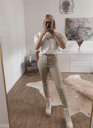 Bluse H&M S 36 neu weiß Puffärmel Rüschen