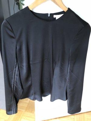 H&M Glanzende blouse zwart Polyester