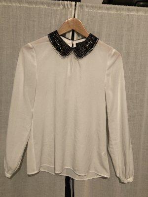 Hallhuber Cols de blouses blanc-noir