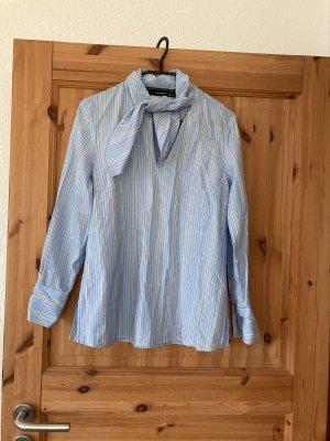 Hallhuber Colletto camicia bianco-azzurro