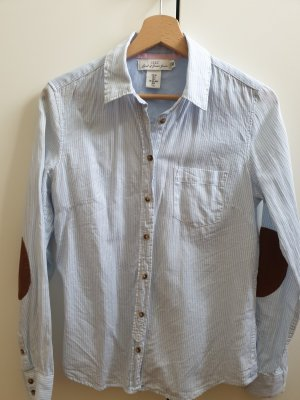 Bluse hellblau/weiß gestreift