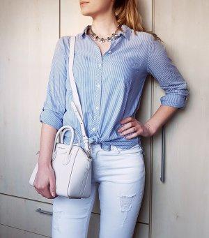 Bluse Hellblau Weiß gestreift Amisu Gr. S