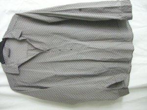 Bluse hellgrau mit Print