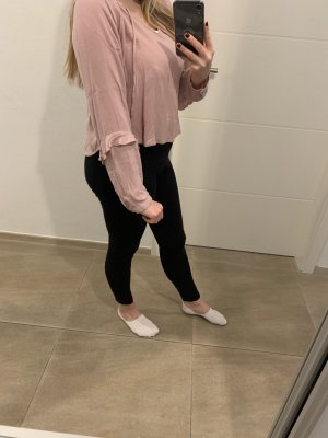 Bershka Blouse à volants or rose-rose clair