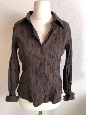 Bluse Hemd braun stretchig Gr. 40