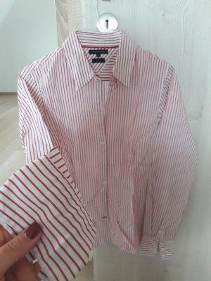 Bluse Hemd gestreift Streifen rot weiß Hilfiger 36