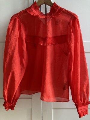 H&M Cols de blouses rouge polyester