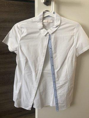 Bluse Hemd kurzarm Gr. S weiß