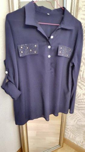 Bluse Hemd Langarmshirt  Top Weihnachten Silvester Gr.M NEU