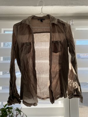Mango Koszula z długim rękawem beżowy-camel