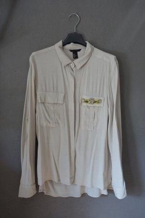 Bluse, Hemd, mit Glitzersteinen, H&M, sehr schön! Crepebluse