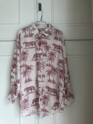 Bluse Hemd mit Tiger-Print
