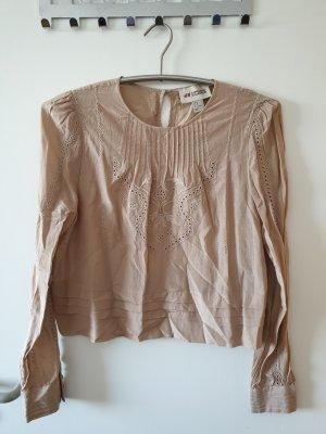 Bluse Hemd Oberteil Top beige Gr. 40 H&M neuwertig