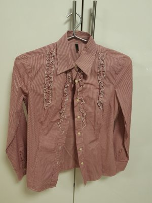 Bluse hemd rot benetton xs
