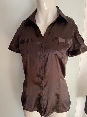 Zara Cols de blouses brun noir