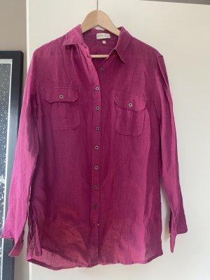 xxx Lniana bluzka purpurowy-brązowo-fioletowy Len