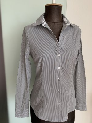 Bluse Hemd Stretch Gr 38 S/M von H&M, gestreift