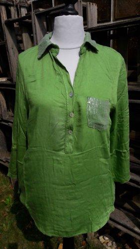 Bluse * Hemd * Tunika * Pailletten * 38 * grün