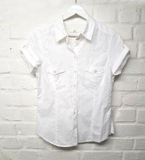 Bluse Hemd Weiß H&M Gr. 42