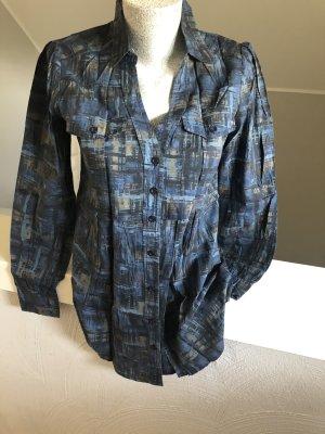 Casa Blanca Blouse-chemisier noir-bleu foncé
