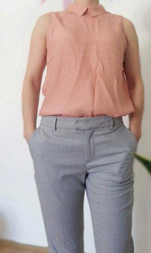 Bluse Hemdbluse Bubikragen Rückenfrei mbym XS lachs
