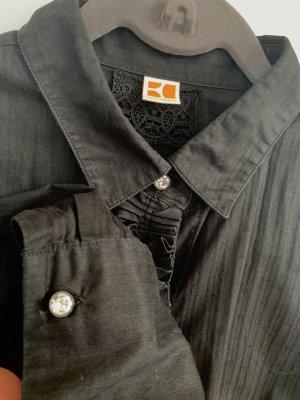 Bluse Hemdbluse mit Rüschen Hugo Boss Orange 36/34