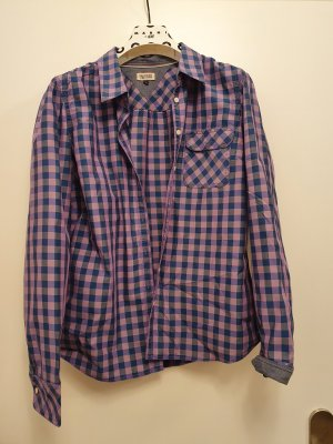 Hilfiger Denim Blusa de manga larga lila-azul oscuro