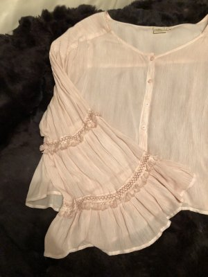 White Crow Blouse en crash rosé rayonne