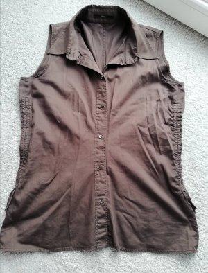 Hugo Boss Blusa sin mangas marrón oscuro-marrón-negro