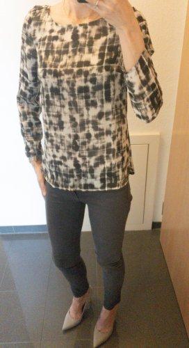 Bluse I Mango I schwarz-weiß-grau I 34 I XS