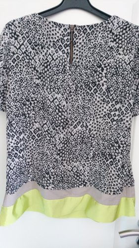 Amy Vermont Short Sleeved Blouse anthracite-neon yellow