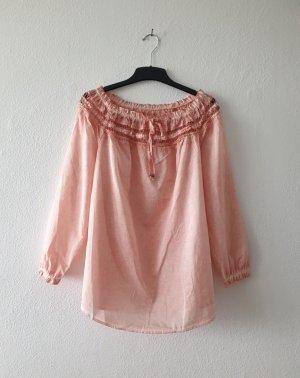 Bluse im Carmen-Stil und mit Spitze von Bodyflirt Größe 40