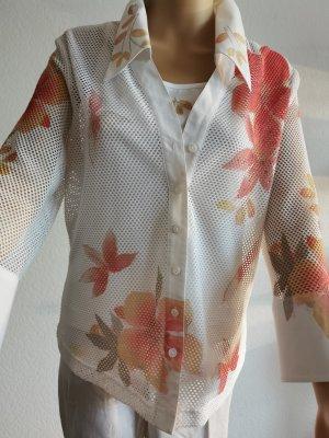 Biba Cols de blouses blanc cassé-orange