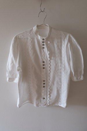 Vintage Blouse bavaroise blanc coton