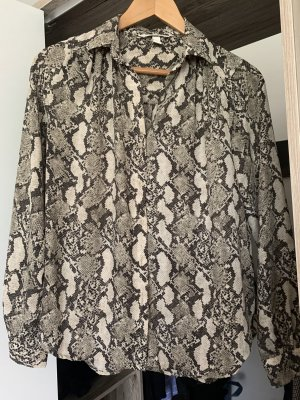 Bluse in Animalprint aus Chiffon