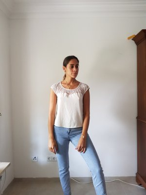 Bluse in creme weis