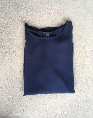 Bluse in dunkelblau
