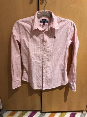 Ralph Lauren Koszulowa bluzka jasny różowy-biały