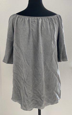 Carmen blouse lichtgrijs-grijs Lyocell