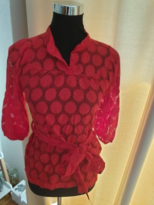 H&M Blusa trasparente rosso