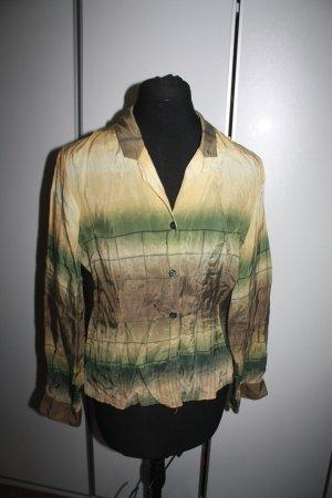 Bluse in grün-gelb, Gr. 38