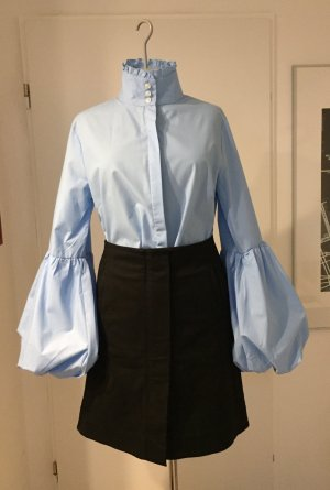 Stand-Up Collar Blouse azure