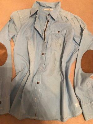 Bluse in hellblau von Tom Tailor tolle Verarbeitung mit Absteppung