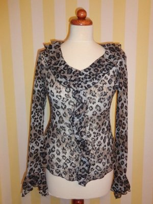 Bluse in Leopard muster