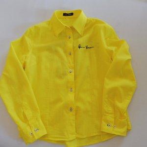 Bluse in leuchtendem Gelb von Versace