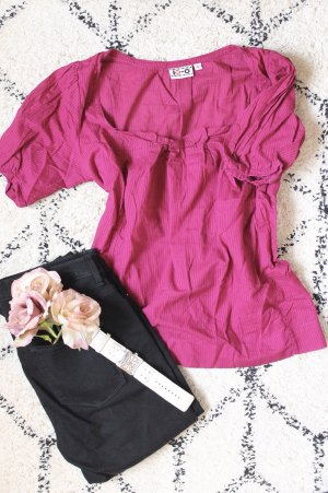 Bluse in Magenta