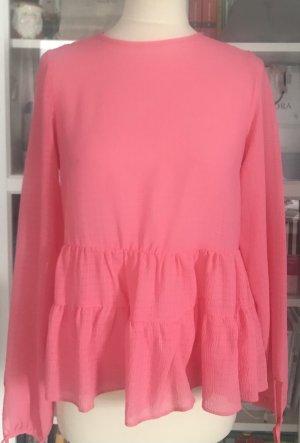Bluse in pink mit schößchen