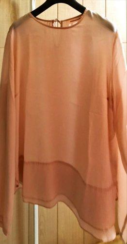 custom made Zijden blouse stoffig roze Zijde