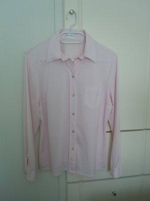 Bluse in rose, feiner Baumwoll-Viskose-Jersey