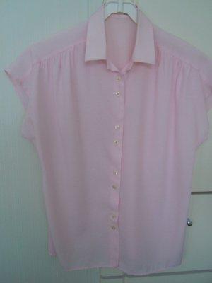 Blusa de manga corta rosa Algodón